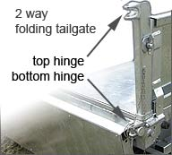 Our tipper trailer tailgate can open from the top (for tipping) or from the bottom (for loading)