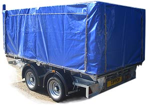the new  PVC cover for the Atlas tipper trailer