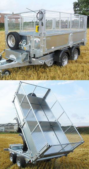 The Atlas Tipper (Tipping) Trailer - a great trailer for builders, landscape gardeners and general tipping jobs