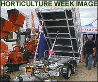 Atlas tipping trailer as reviewed in Horticulture Week in june 2007